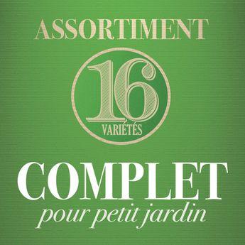 ASSORTIMENT COMPLET POUR PETIT JARDIN (16 VARIETES)